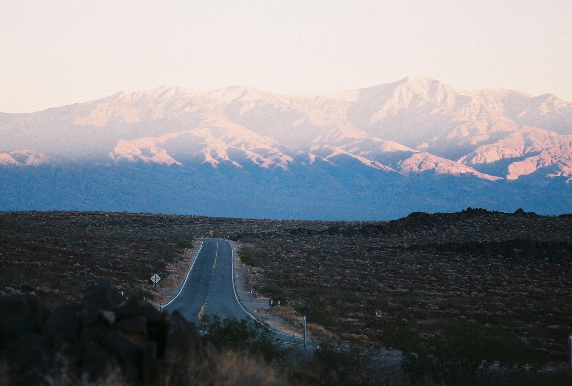 Film photograph of Death Valley CA